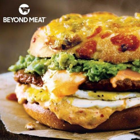 Einstein Bros. New Beyond Sausage Spicy Sunrise Sandwich