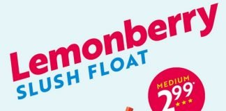 Sonic New Lemonberry Slush Float