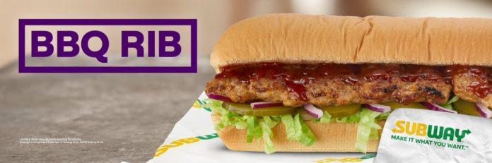Subway Unveils New BBQ Rib Sandwich