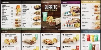Taco Bell's new menu starting August 13