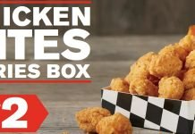 Checkers And Rally's Bring Back $2 Chicken Bites & Fries Box Deal