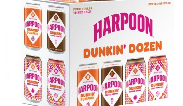 Dunkin' And Harpoon Brewery Offer New Donut-Infused Beers For A Limited Time