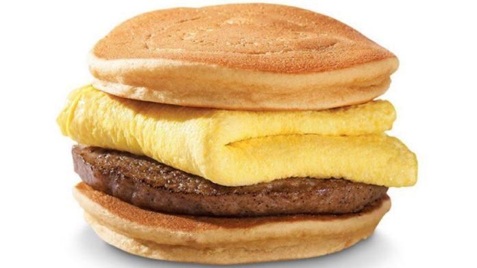 Hardee's new Hot Cakes Breakfast Sandwich