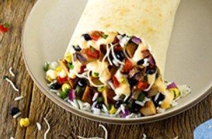 Qdoba new Chicken Queso Burrito from Signature Eats Entrees Menu