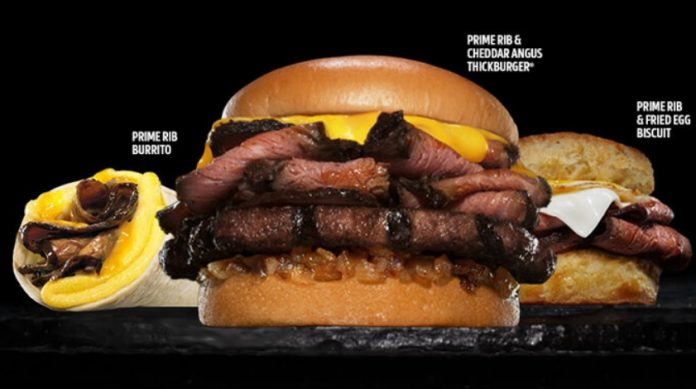 Hardee's Offers New Prime Rib & Cheddar Angus Thickburger And New Prime Rib & Fried Egg Biscuit As Part Of New Prime Rib Menu