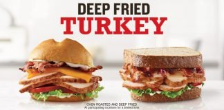 Arby's Adds New Market Fresh Cranberry Deep Fried Turkey Sandwich And Wrap, Brings Back Deep Fried Turkey Club