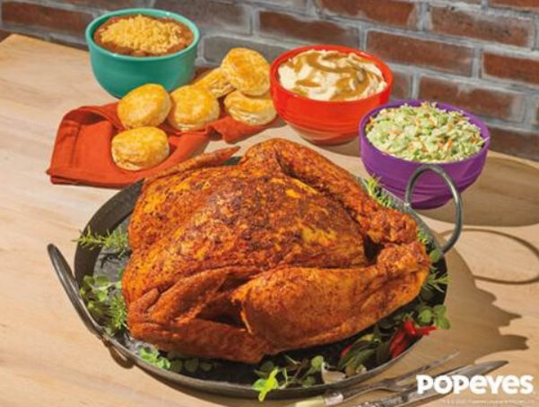 Cajun-Style Turkey Returns To Popeyes For Thanksgiving