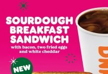 Dunkin' Unveils New Sourdough Breakfast Sandwich And New Chai Oatmilk Latte