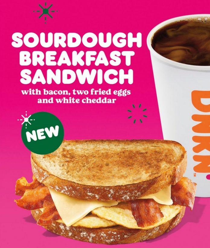 Dunkin' Unveils New Sourdough Breakfast Sandwich And New Chai Oatmilk Latte