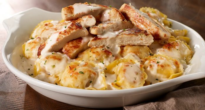 Olive Garden Brings Back Asiago Tortelloni Alfredo With Grilled Chicken And Pumpkin Cheesecake