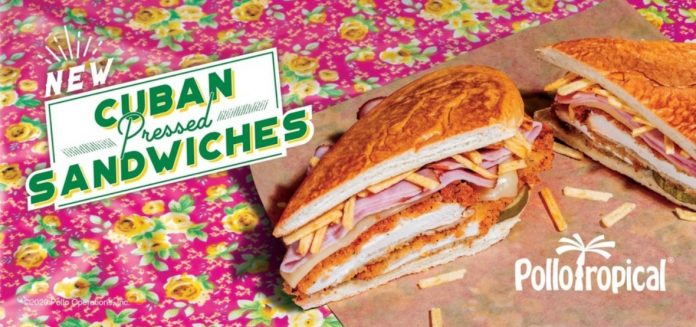 Pollo Tropical Releases New Line Of Cuban Pressed Sandwiches