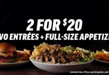 Applebee's 2 For $20 Menu Is Back