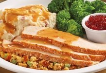 Denny's Brings Back Turkey And Dressing Dinner