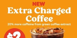 Dunkin' new Extra Charged Coffee hero