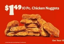 Burger King Welcomes Back $1.49 Chicken Nuggets Deal