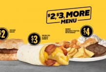 Hardee's Updates $2, $3, More Breakfast Value Menu With Bacon, Egg & Cheese Burrito And Hot Cake Breakfast Sandwich