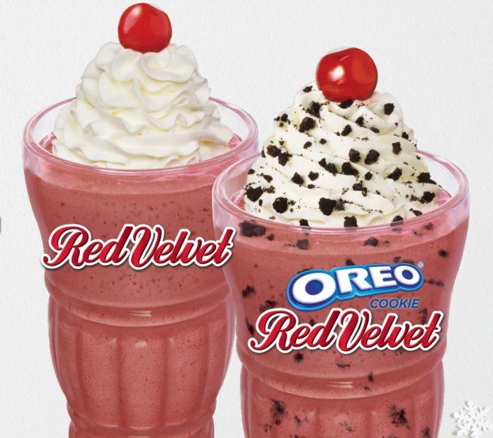 Steak 'n Shake Welcomes Back Red Velvet And Oreo Cookie Red Velvet Milkshakes For A Limited Time