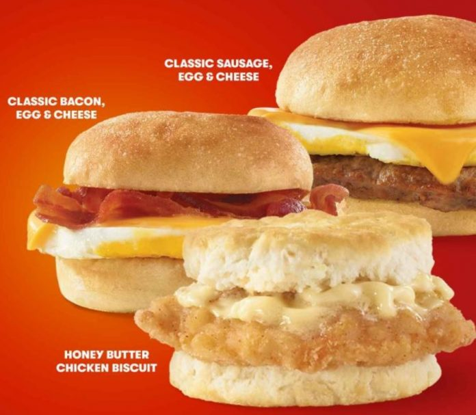 Wendy's Puts Together New 2 For $4 Breakfast Sandwiches Deal
