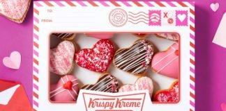 Krispy Kreme Unveils New Valentine's Day Heart-Filled Doughnut Collection