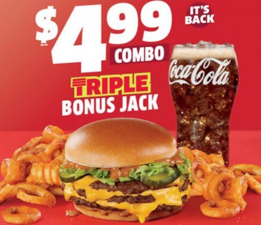 Triple Bonus Jack And Quad Bonus Jack Return To Jack In The Box For A Limited Time