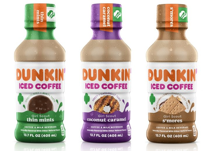Dunkin' Releases New Girl Scout Cookie Inspired Bottled Iced Coffee Lineup