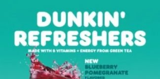 Dunkin' Serves Up New Blueberry Pomegranate Flavored Dunkin' Refresher