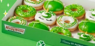 Krispy Kreme New Luck O' The Doughnuts Collection Includes A Gold Coin Donut And A Lucky Leprechaun Donut