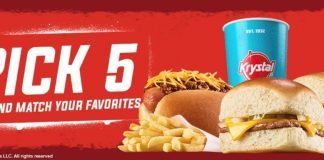 Krystal Offers New Pick 5 For $5.99 Mix And Match Deal