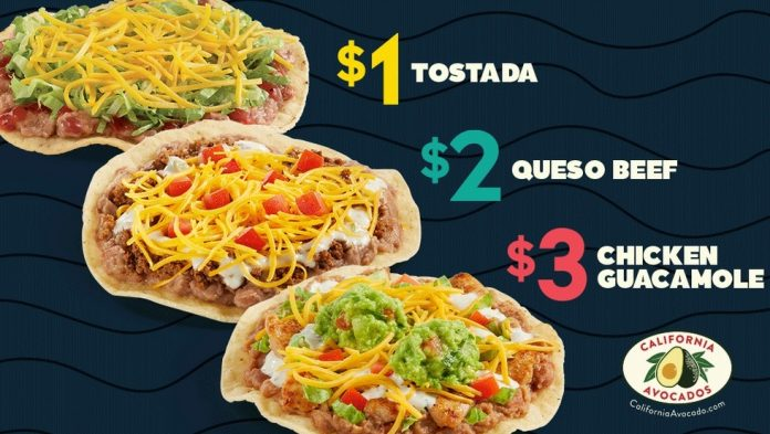 Del Taco Debuts New Queso Beef Crunchtada And Chicken Guacamole Crunchtada As Part Of New Crunchtada Menu That Aims To Fill The Mexican Pizza Void