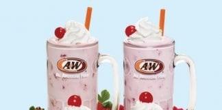 A&W Welcomes New Raspberry Real Fruit Shake And Sundae