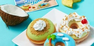 Krispy Kreme Launches New Piña Colada Donut And Island Time Donut As Part Of New Island Time Collection