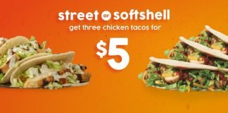Taco John's Welcomes Back Three Street Or Soft Shell Chicken Tacos For $5 Deal