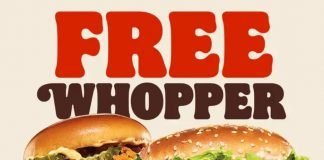 Burger King Offers Free Whopper With Any Ch'King Sandwich Purchase In The App Or Online Through June 20, 2021
