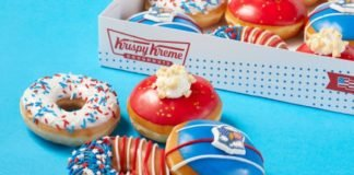 Krispy Kreme Welcomes New Fourth Of July Doughnut Collection