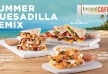 New BBQ Shrimp, BLT And Jerk Chicken Poolside Quesadillas Land At Tropical Smoothie Cafe