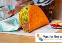 Taco Bell Offers Vaccinated Customers In California Free Nacho Cheese Doritos Locos Tacos On June 15, 2021