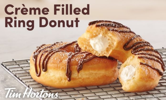 Tim Hortons Celebrates New Crème Filled Ring Donut And National Donut Day With A Special 50 Cent Deal