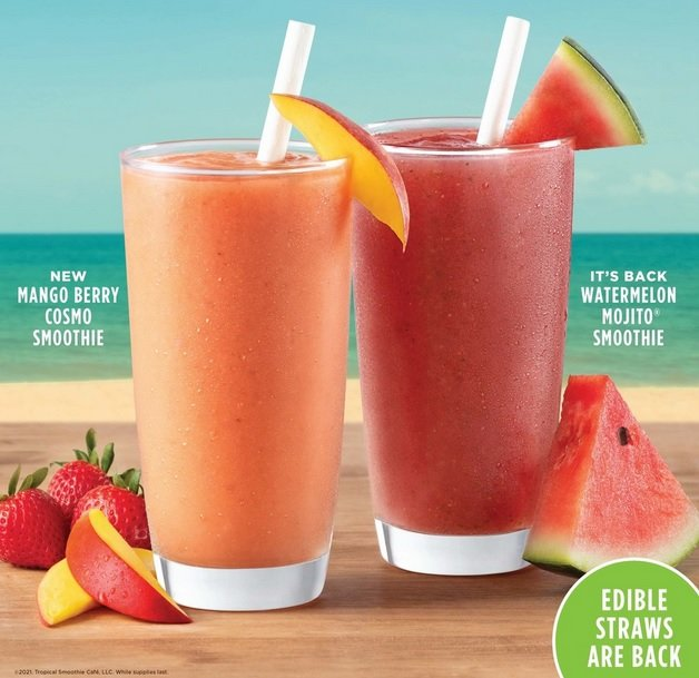 Tropical Smoothie Cafe Adds New Mango Berry Cosmo Smoothie, Welcomes Back Watermelon Mojito Smoothie