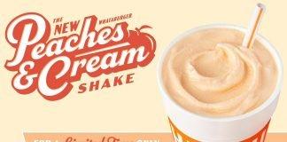 Whataburger Spins New Peaches & Cream Shake And Malt