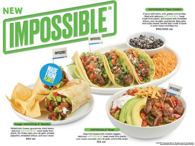 Baja Fresh Debuts 3 New Dishes Made With Plant-Based Impossible Meat