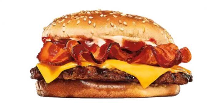 Burger King new Single Bacon King Sandwich