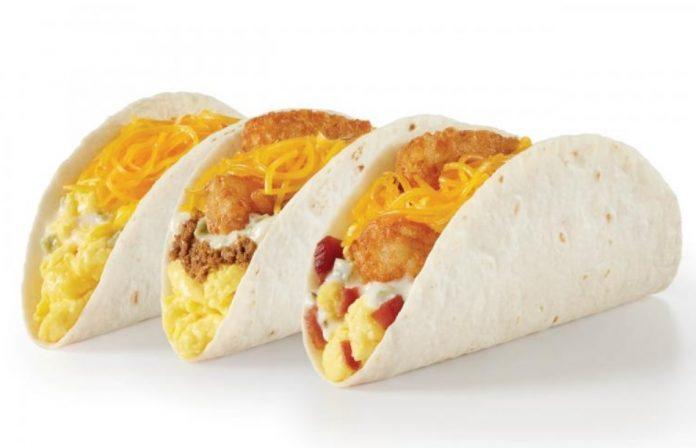 Del Taco Reveals Three New Double Cheese Breakfast Tacos