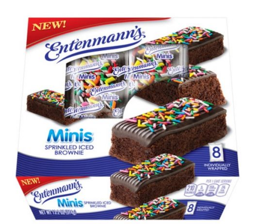 Entenmann's Releases New Minis Sprinkled Iced Brownies