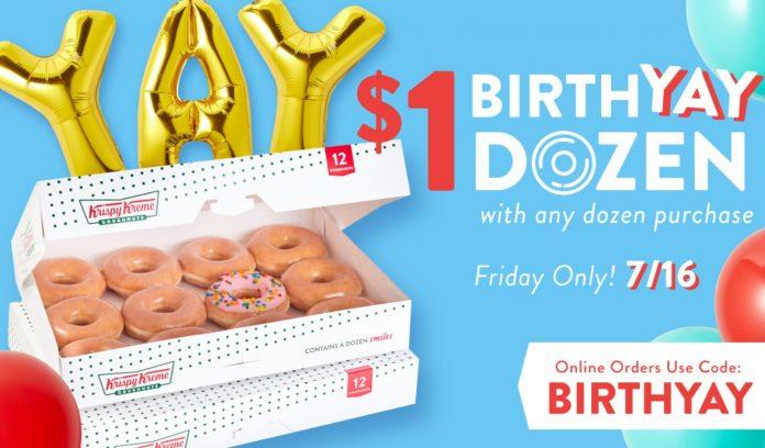 Krispy Kreme Celebrates 84th Anniversary With New BirthYAY Doughnut And $1 BirthYAY Dozen Deal