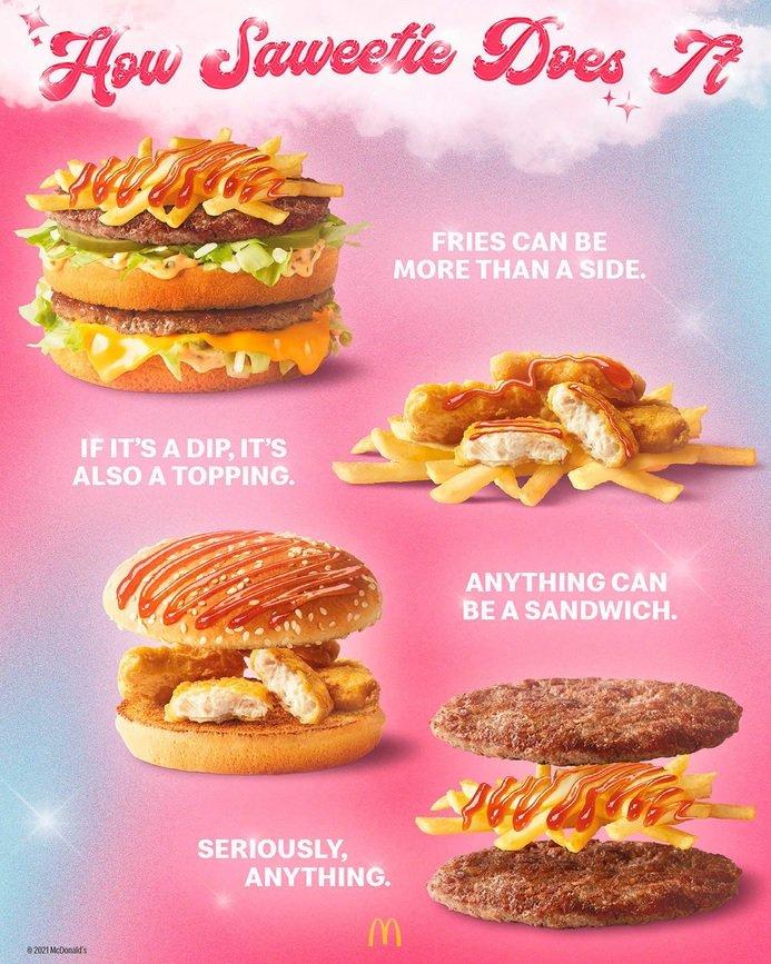 McDonald's Saweetie Meal Combinations