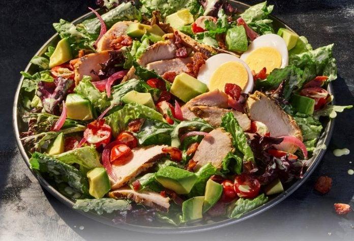 Panera Brings Back Green Goddess Cobb Salad With Chicken And Greek Salad