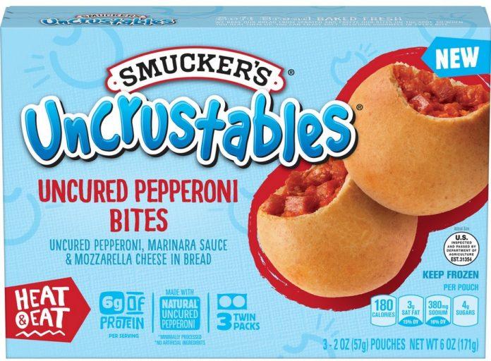 Smucker's Unveils New Uncrustables Uncured Pepperoni Bites And Uncrustables Uncured Pepperoni Roll-Ups