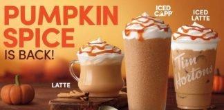 Tim Hortons Reveals 2021 Pumpkin Spice Lineup