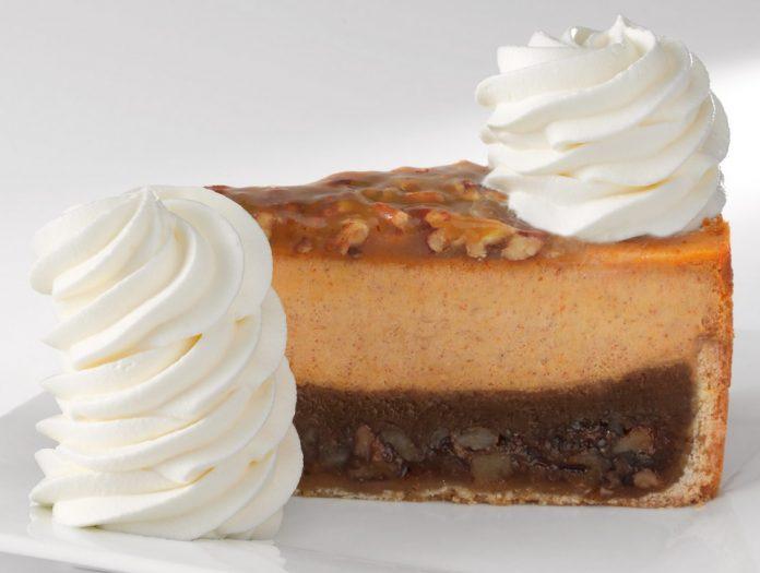 The Cheesecake Factory Brings Pumpkin Cheesecake And Pumpkin Pecan Cheesecake For Fall 2021