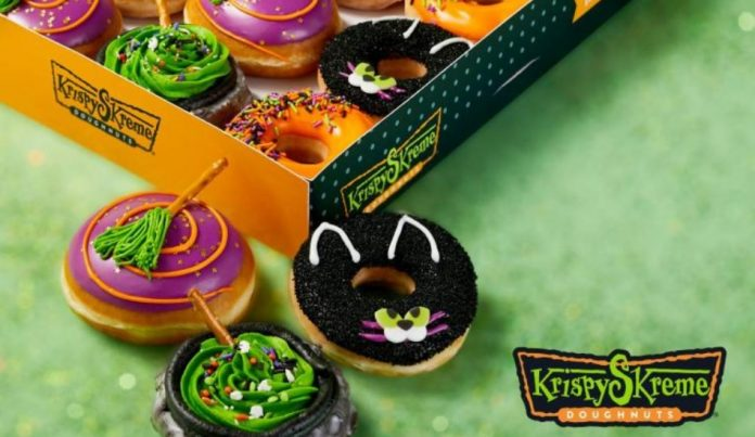 Krispy Kreme Releases New 2021 Halloween Donuts Featuring New Abra Cat Dabra Doughnut And Bewitched Broomstick Doughnut